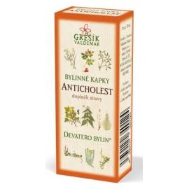 Kvapky 9 bylín Anticholesterol 50ml Grešík
