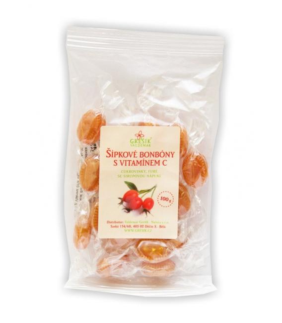 Šípkové cukríky s vitamínom C  100g