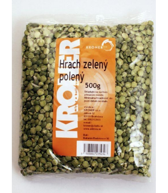 Hrach zelený polený 500g Kroner