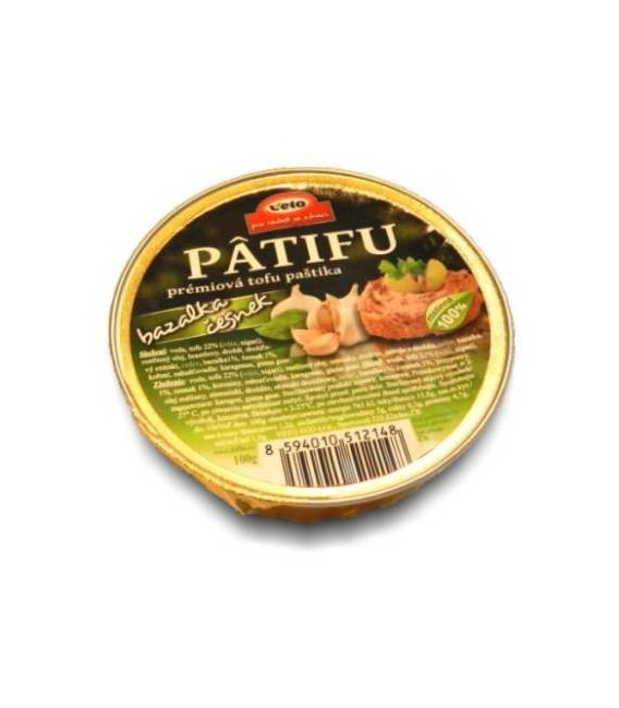 Nátierka PATIFU bazalka-cesnak 100g