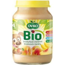 Dojčenská výživa broskyňová s banánmi 190g BIO OVKO