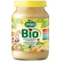 Dojčenská výživa jablková s banánmi a marhuľami 190g BIO OVKO