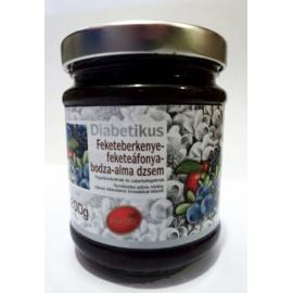 DIA džem z jarabiny čiernej, čučoriedok, bazy a jabĺk 200g