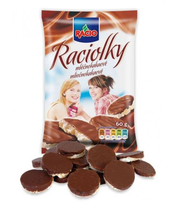 Raciolky mliečno-kakaové 60g RACIO
