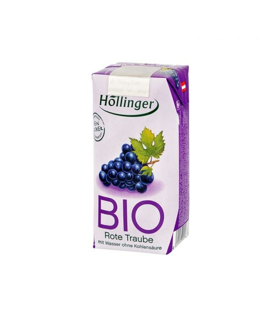 Šťava ovocná červené hrozno 200ml BIO Hollinger
