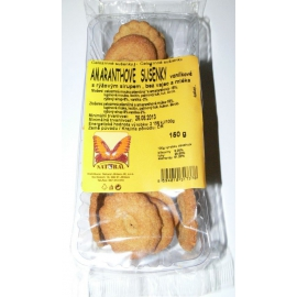 Sušienky celozr.amarant.vanilkové 150g NATURAL