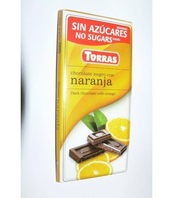 DIA čokoláda horká pomaranč 75g TORRAS
