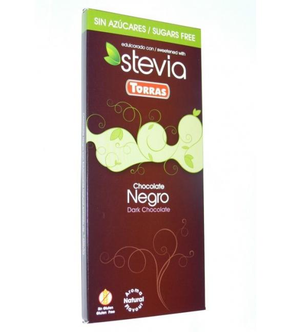 Čokoláda horká sladená Steviou 100g TORRAS