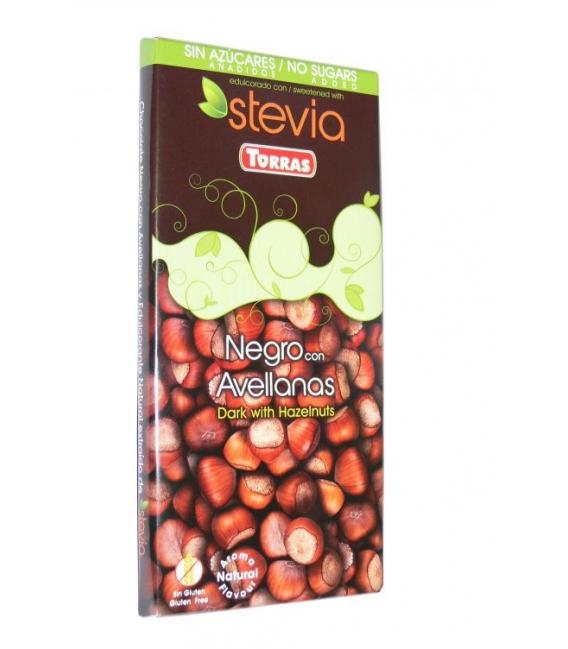 Čokoláda horká s lieskovcami a steviou 125g TORRAS
