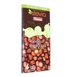 Čokoláda TORRAS horká s lieskovcami a steviou 125g