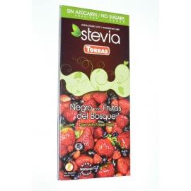 Čokoláda TORRAS horká s lesným ovocím a steviou 125g