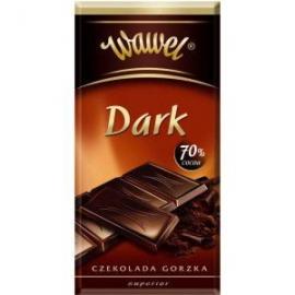 Čokoláda horká DARK 70%  WAWEL 100g