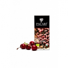 Čokoláda PACARI horká s čerešňami BIO 50g