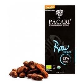 Čokoláda PACARI horká 85% BIO RAW 50g