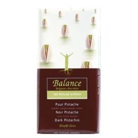 Čokoláda Balance horká s pistáciami 85g