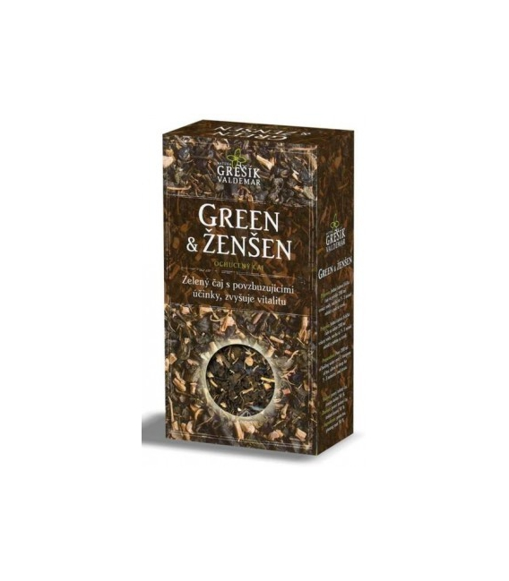 Čaj Green Ženšen 70g krab. Grešík