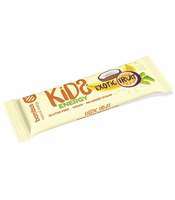 Tyčinka BOMBUS Kids energy exotic fruits 40g