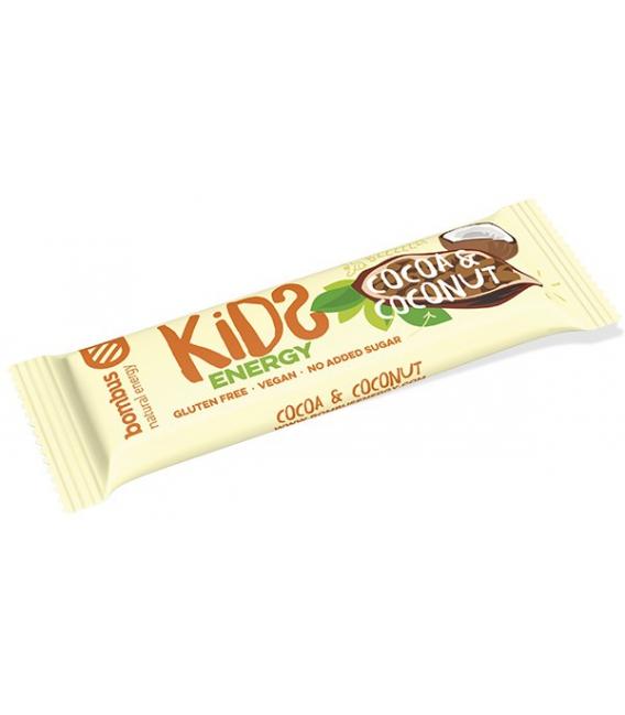 Tyčinka BOMBUS Kids energy kakao - kokos 40g