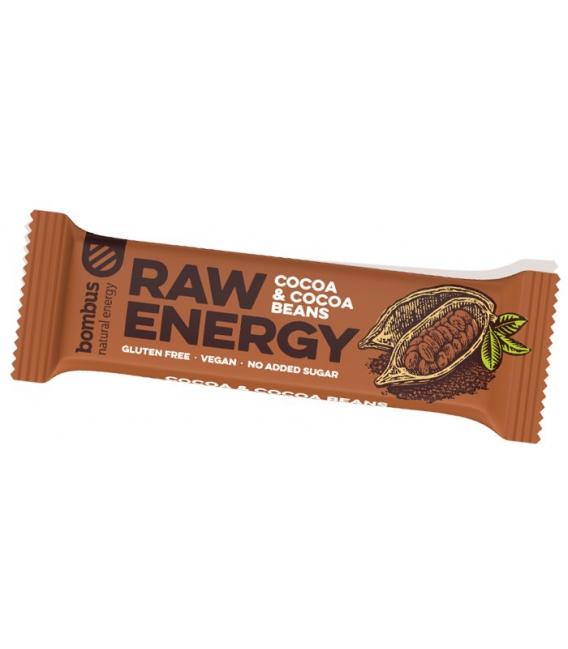 Tyčinka BOMBUS RAW energy kakaové bôby 50g