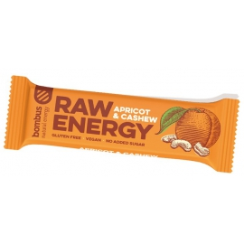 Tyčinka BOMBUS RAW energy marhuľa - kešu orechy 50g