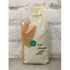 Cukor trstinový svetlý 1 kg Natural Jihlava