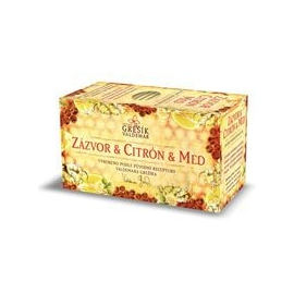 Čaj Zázvor + Citrón + Med 20 n.s. Grešík