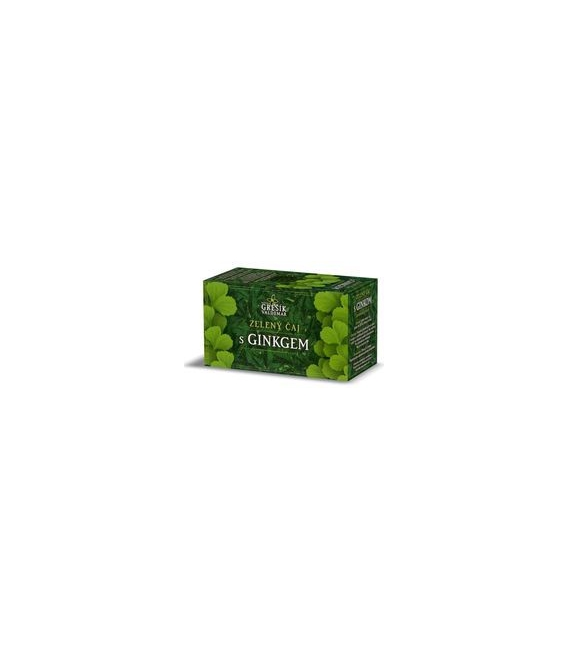 Zelený čaj s ginkom, 20 x 1,5g
