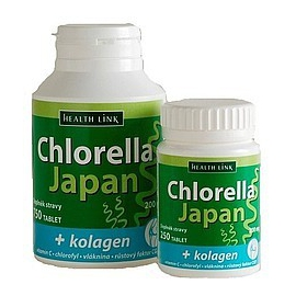 Chlorella Japan s kolagénom 750 tbl